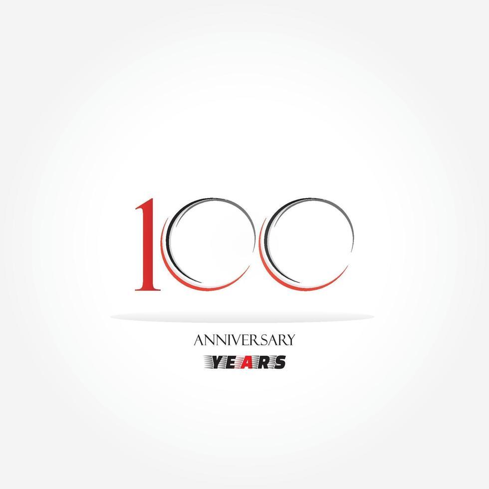 logotipo vinculado ao aniversário de anos com cor vermelha isolado no fundo branco para evento de celebração da empresa vetor