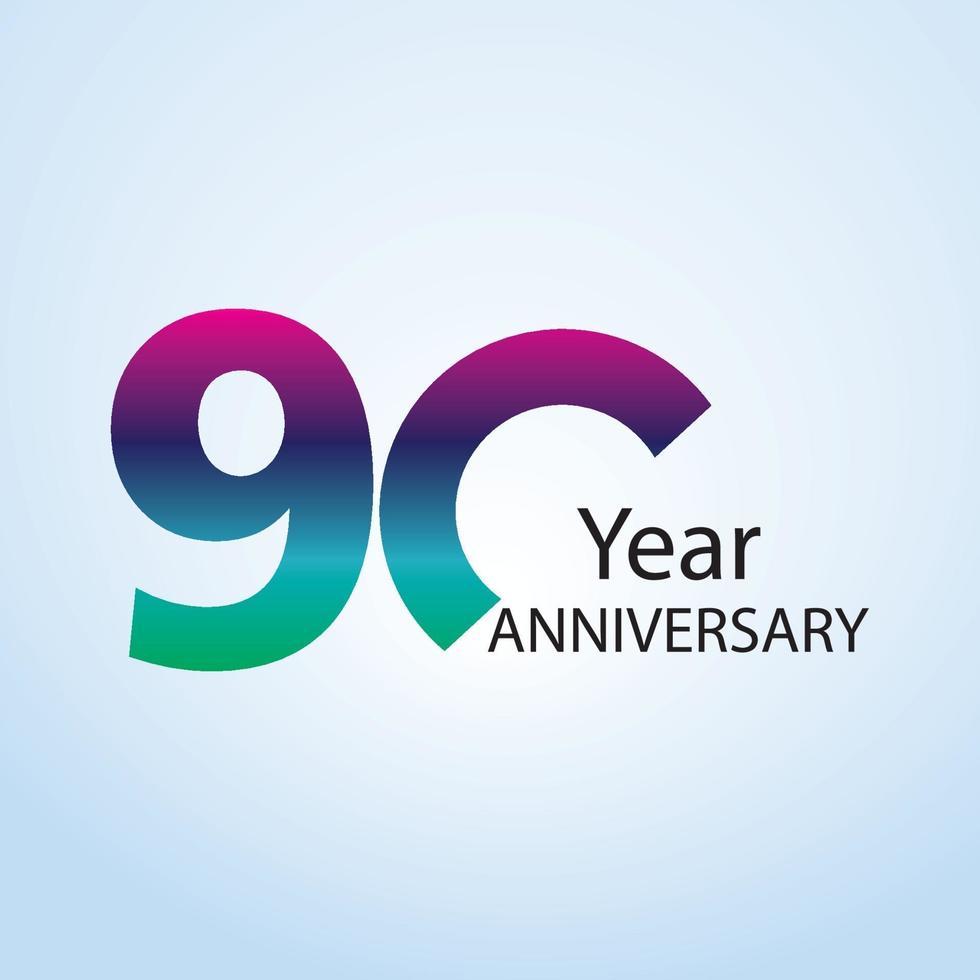 ilustração de design de modelo de vetor de logotipo de aniversário de ano