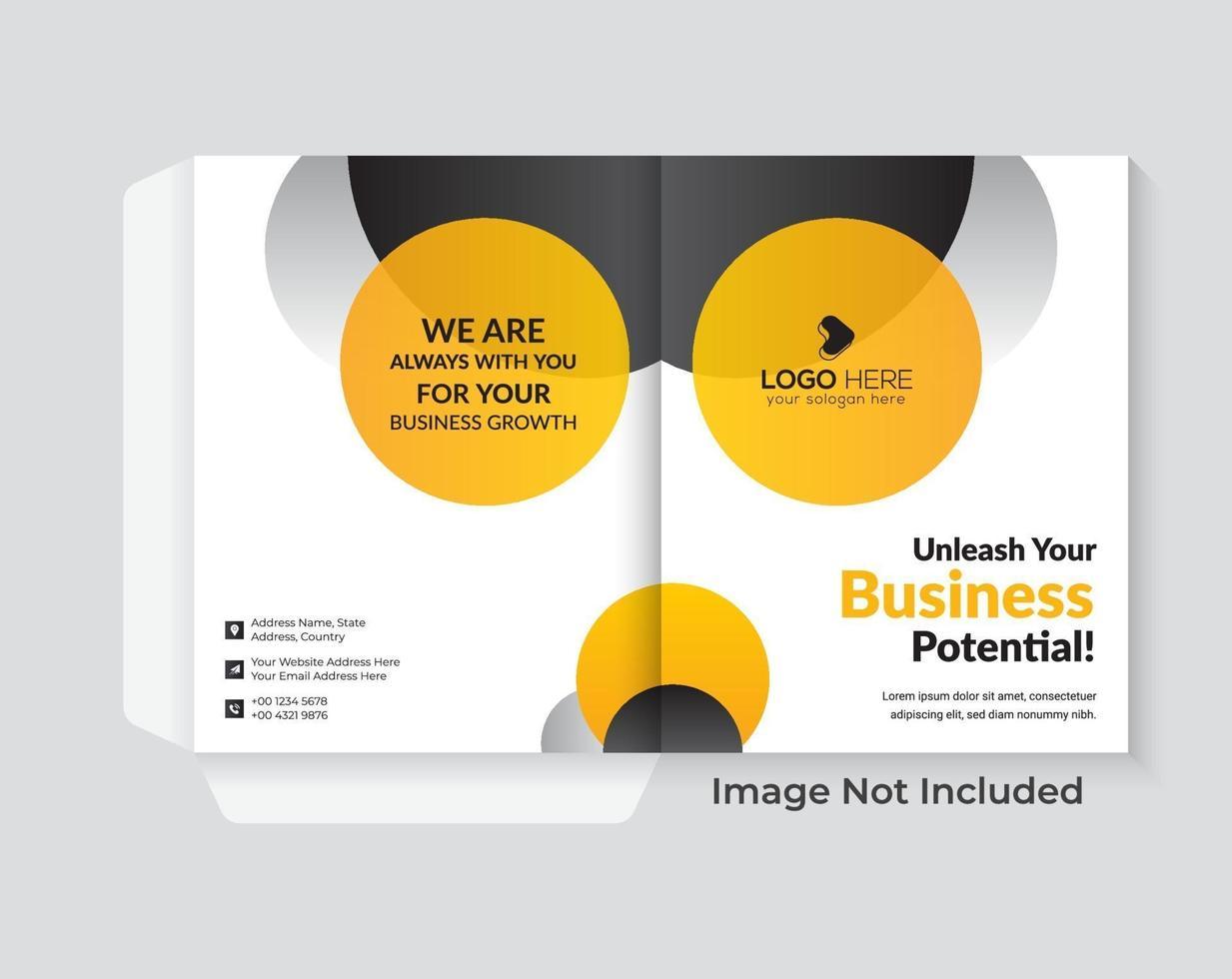 modelo de pasta de apresentação corporativa design de capa de negócios vetor