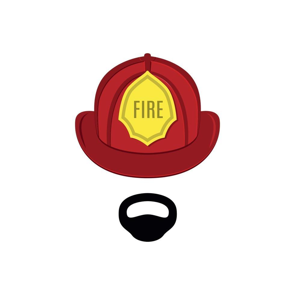 bombeiro em traje profissional. vetor