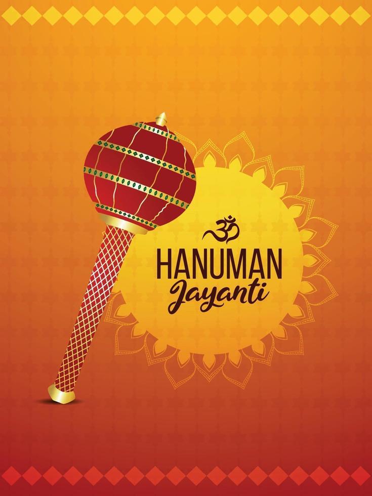 hanuman jayanti flyer ou pôster e plano de fundo vetor