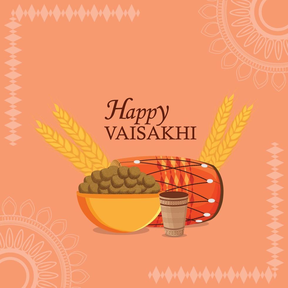 celebração do festival vaisakhi do sikh indiano vetor