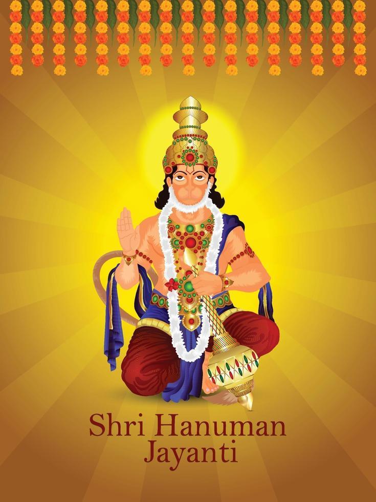 fundo de celebração de shri hanuman jayanti vetor