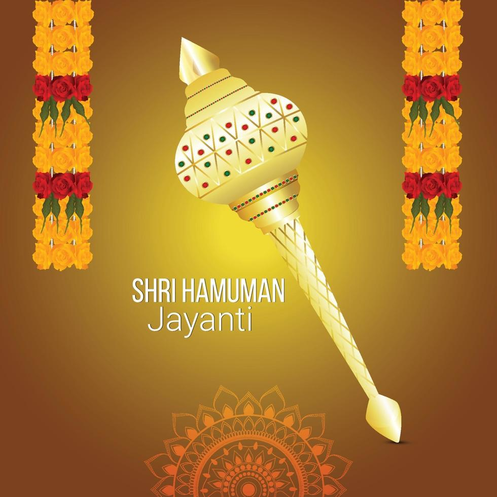 fundo hanuman jayanti e cartão comemorativo vetor