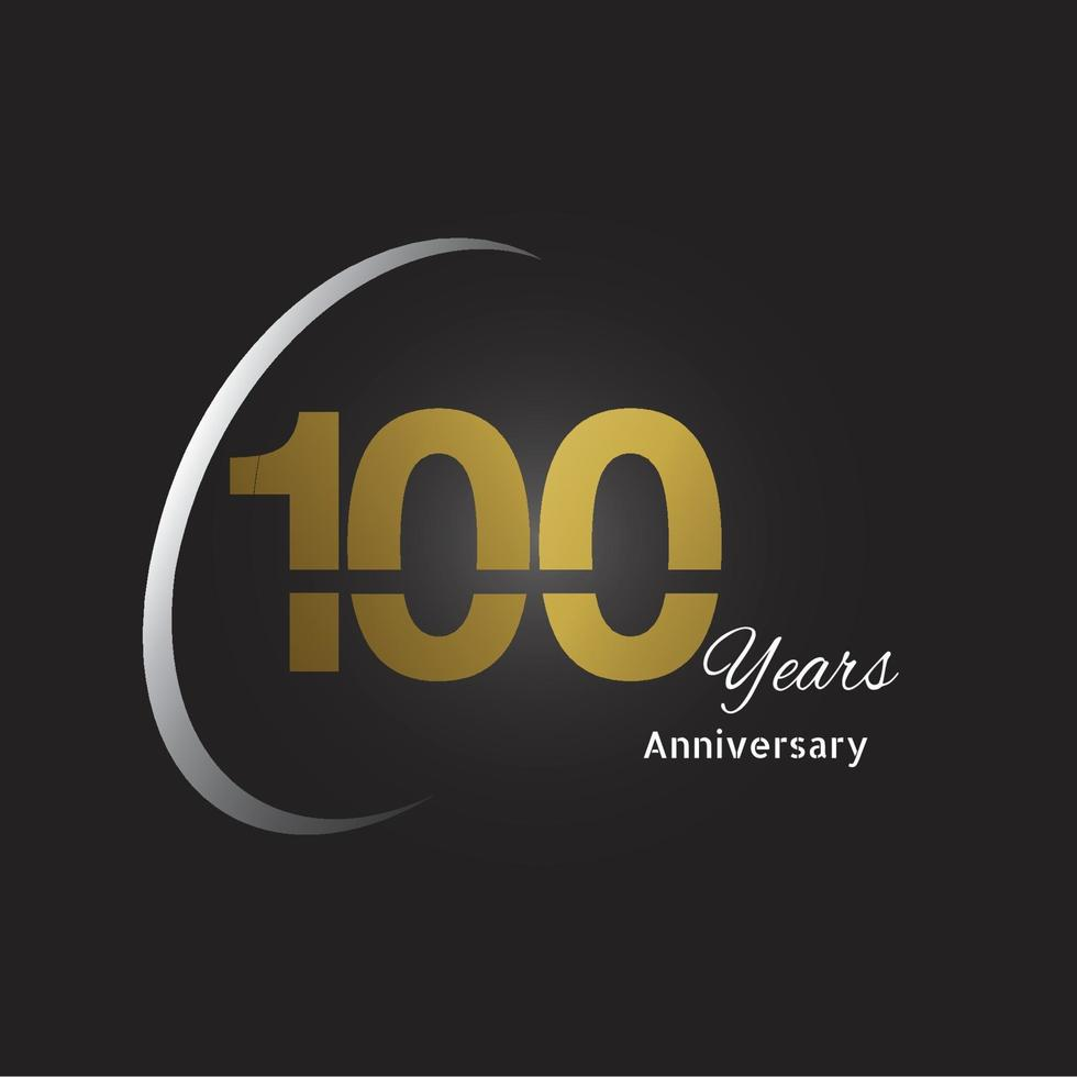 logotipo de aniversário de anos com número linear dourado e fita de ouro, isolado no fundo preto vetor