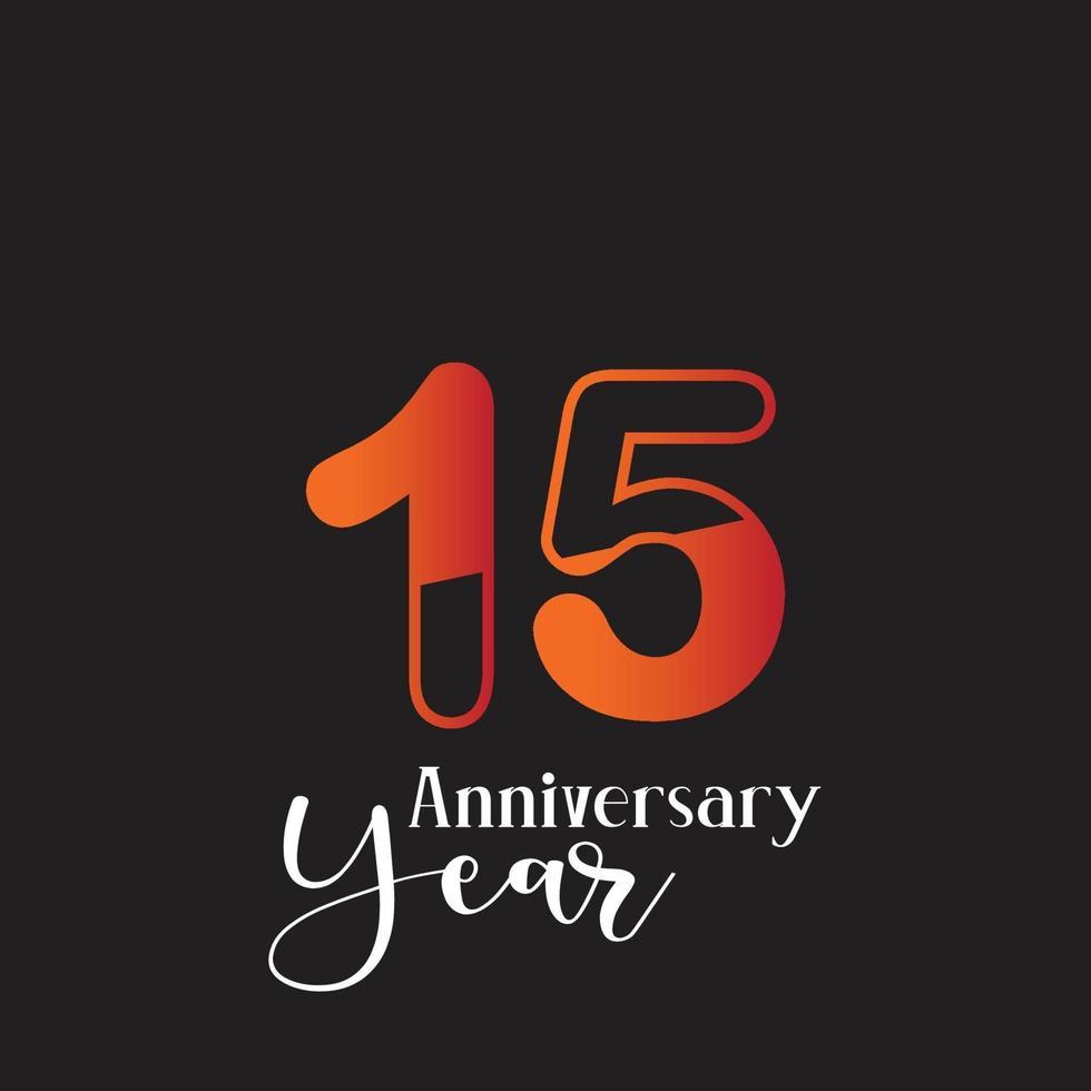 aniversário logotipo vetor modelo design ilustração laranja e preto