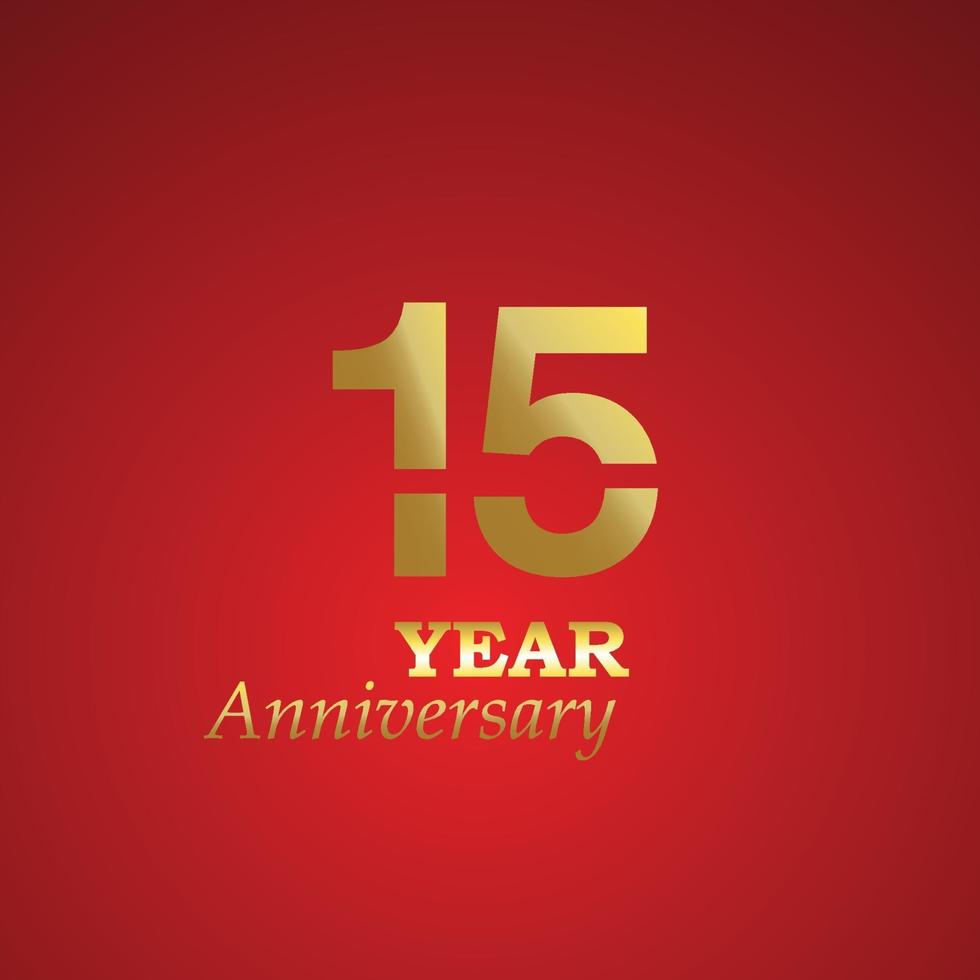 aniversário logotipo vetor modelo design ilustração ouro e vermelho