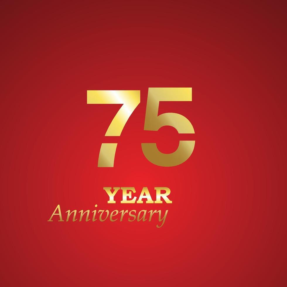 ilustração de design de modelo de vetor de logotipo de aniversário