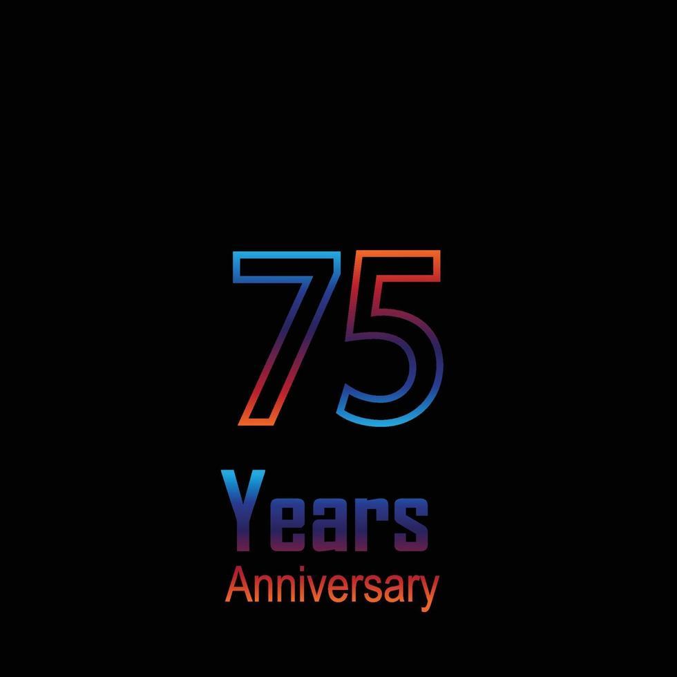 aniversário logotipo vetor modelo design ilustração arco-íris e branco