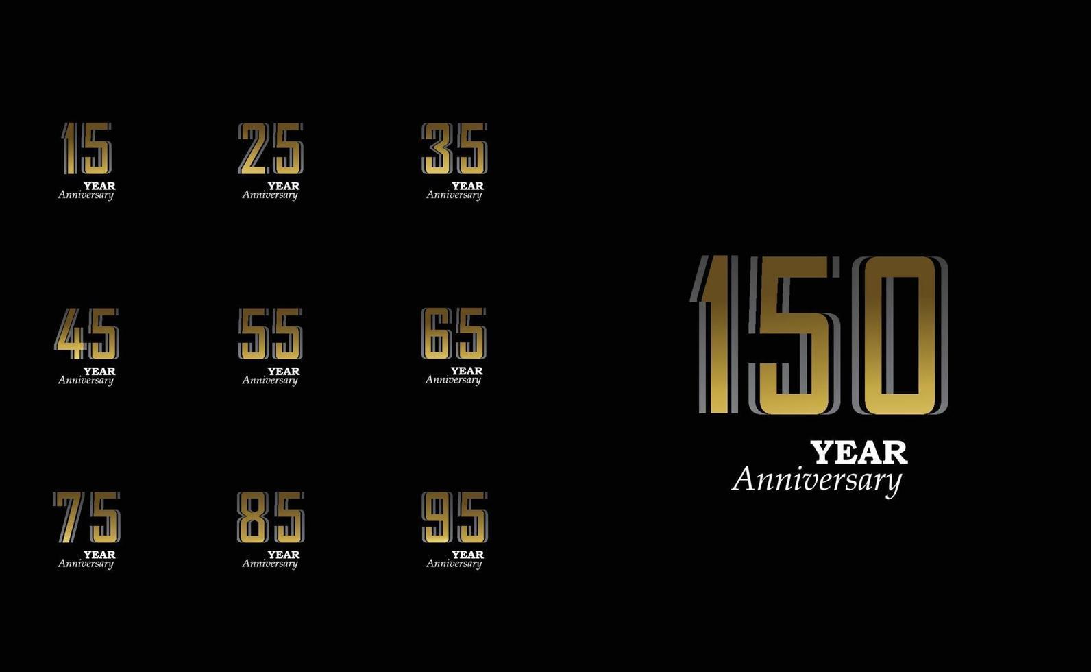 definir ano aniversário logotipo vetor modelo design ilustração