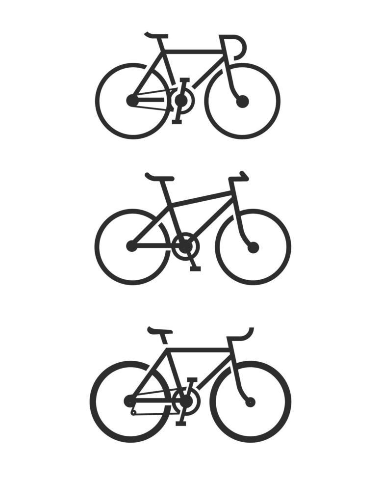 vetor de ícone de bicicleta isolado no fundo branco