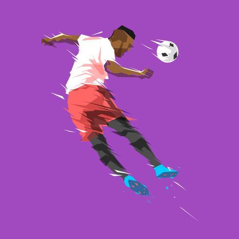 Vetor de jogador de futebol abstrata de cabeçalho