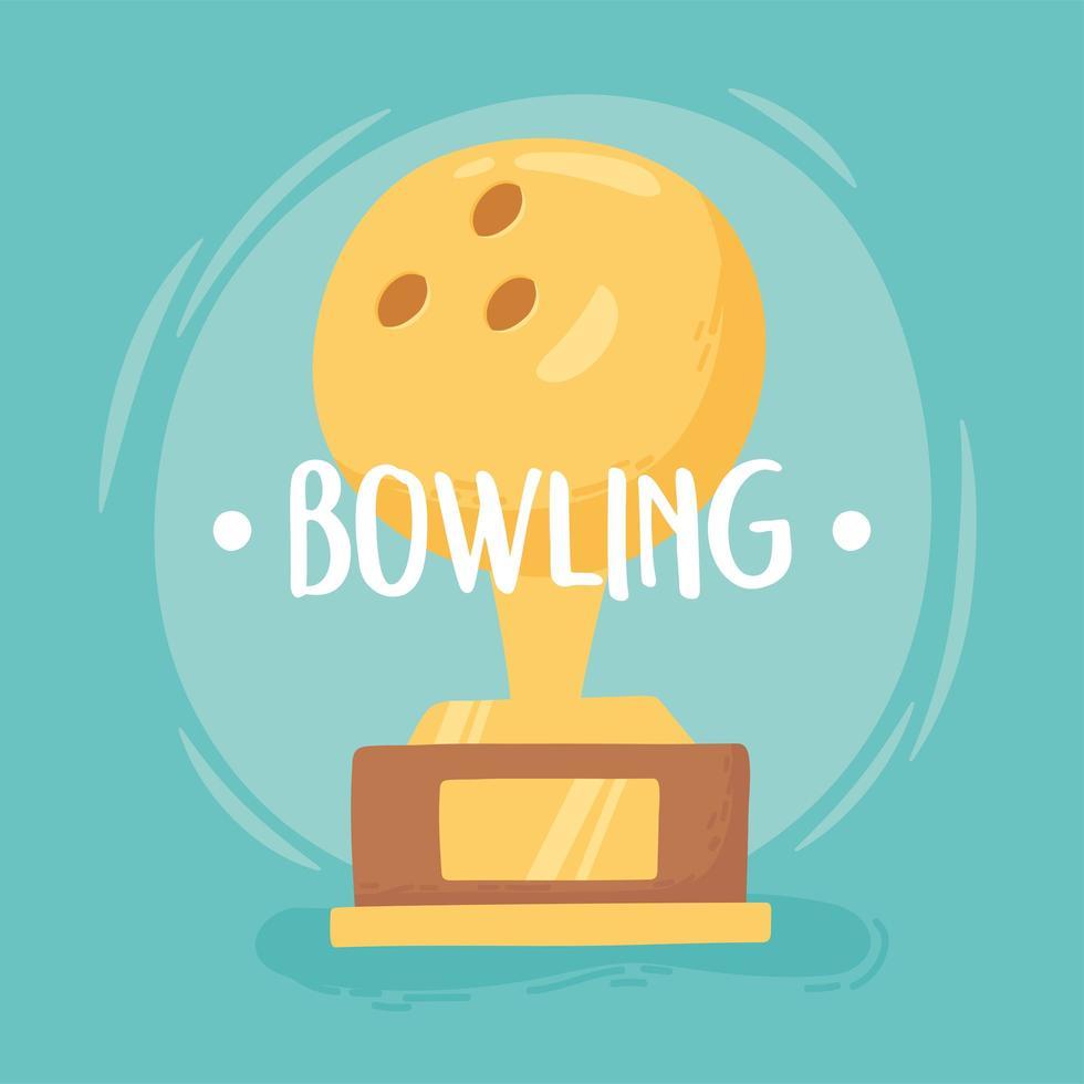 boliche troféu bola de ouro vetor