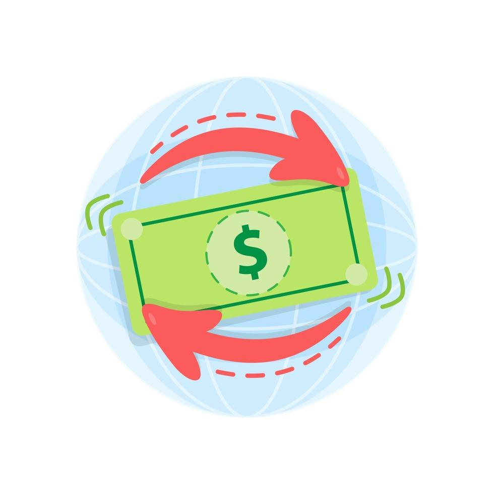 conceito de economia online de câmbio de moeda vetor