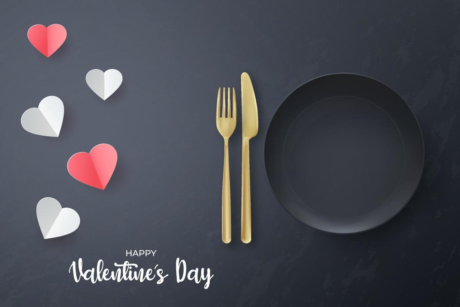 dia dos namorados banner comida mídia social pós modelo. vetor