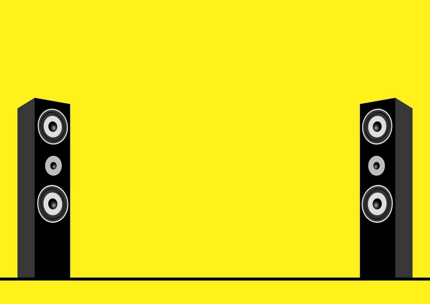 ilustração vetorial de alto-falantes, sistema de som, música, aparelho de som, tema de home theater vetor