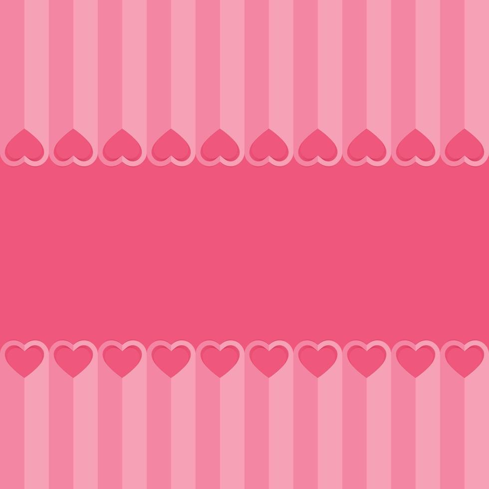 amo corações fundo dia dos namorados, estilo de corte de papel vetor