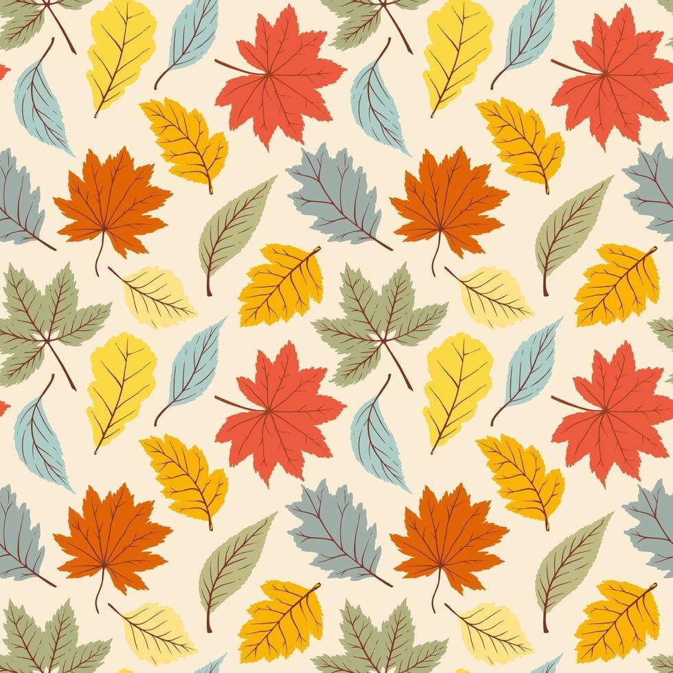 padrão de outono simples vetor