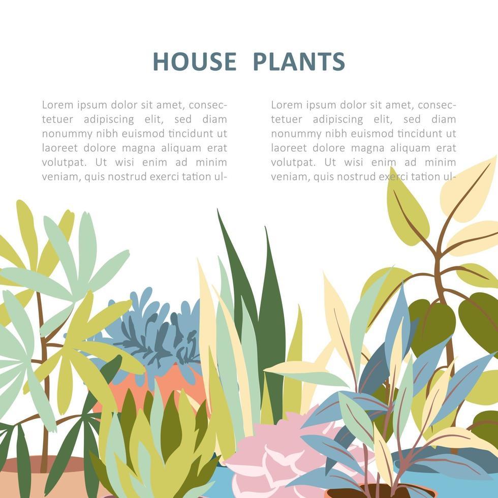 banner de plantas caseiras vetor
