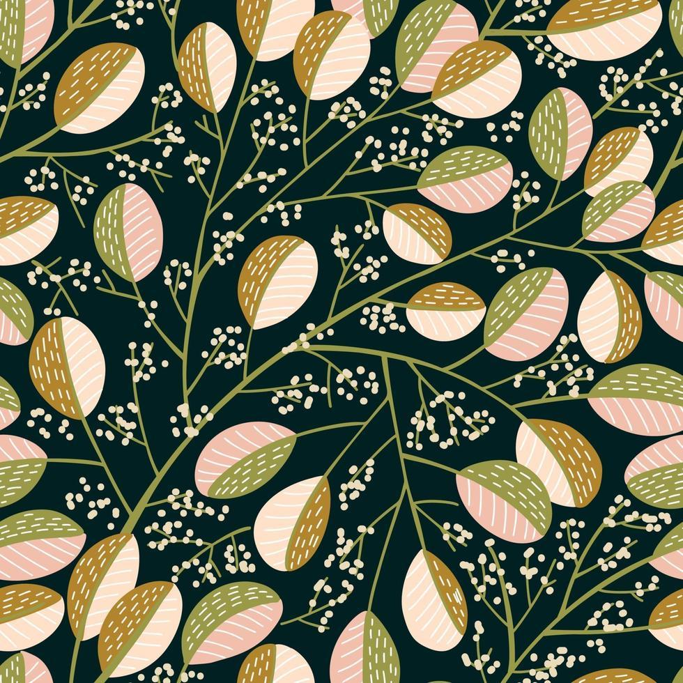 plantas de ouro e rosa vetor
