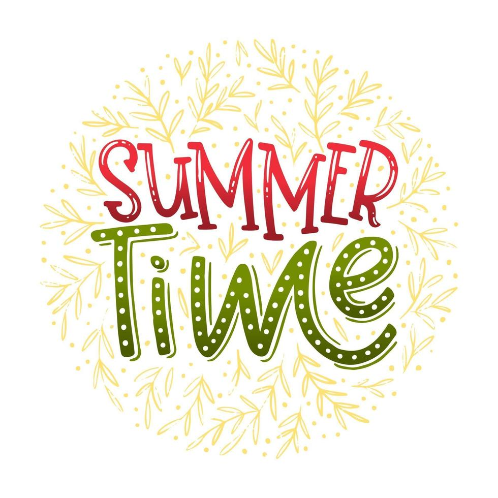 letras do horário de verão vetor