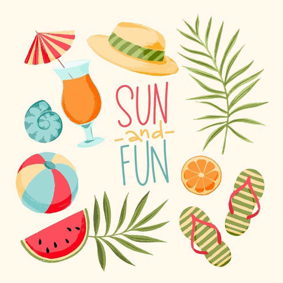 ilustração de férias de verão vetor