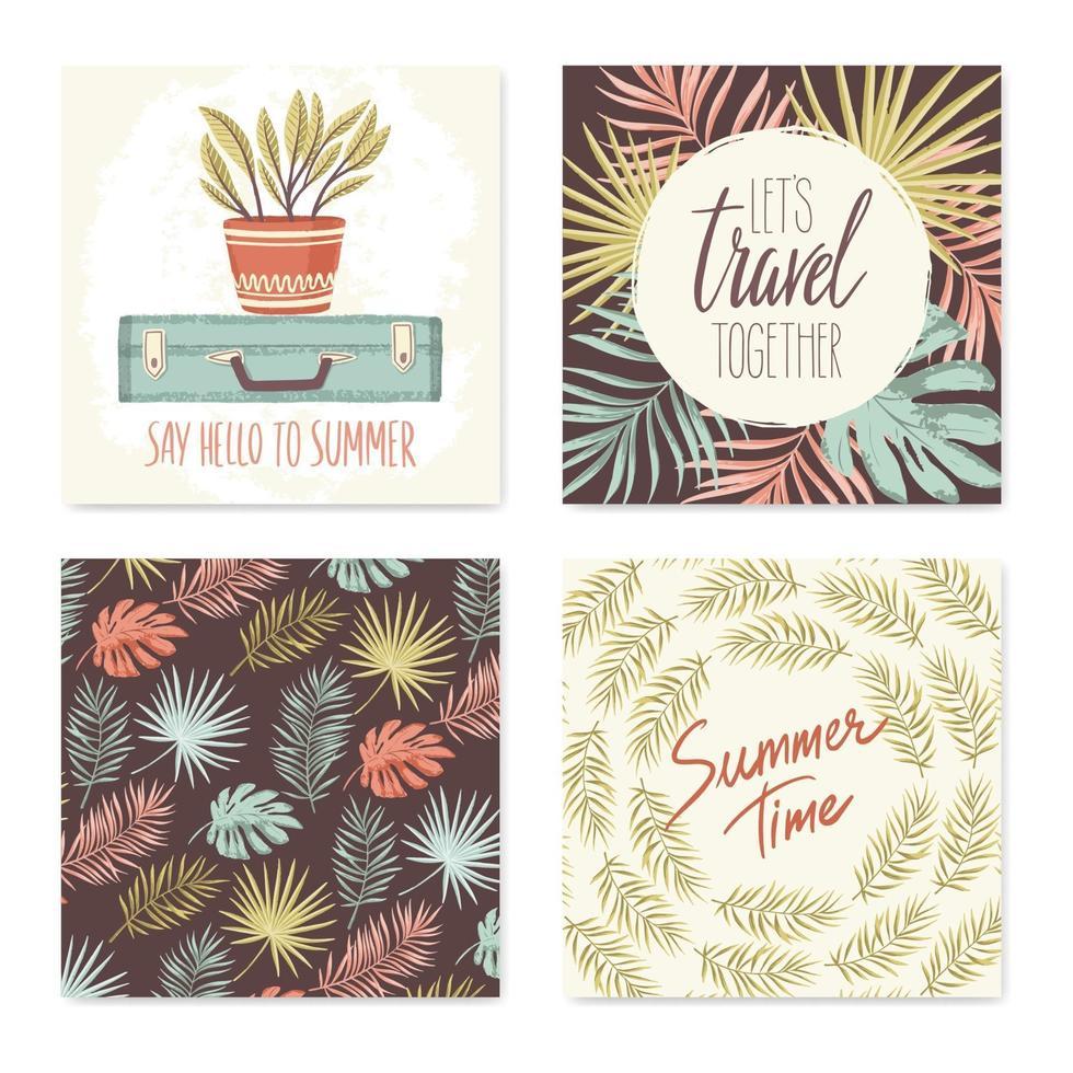 coleção de cartões de verão vetor