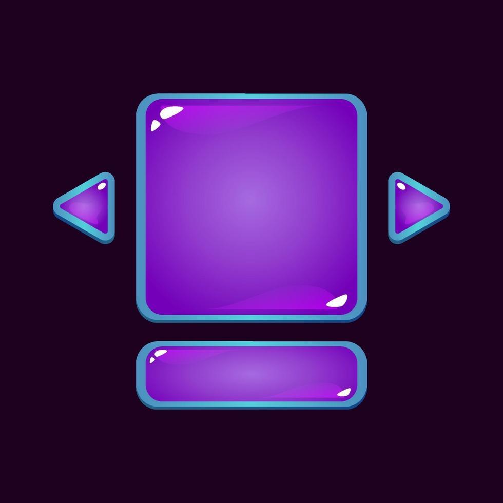 conjunto de placa de interface do usuário de jogo de geléia de fantasia pop-up para ilustração vetorial de elementos de ativos de gui vetor