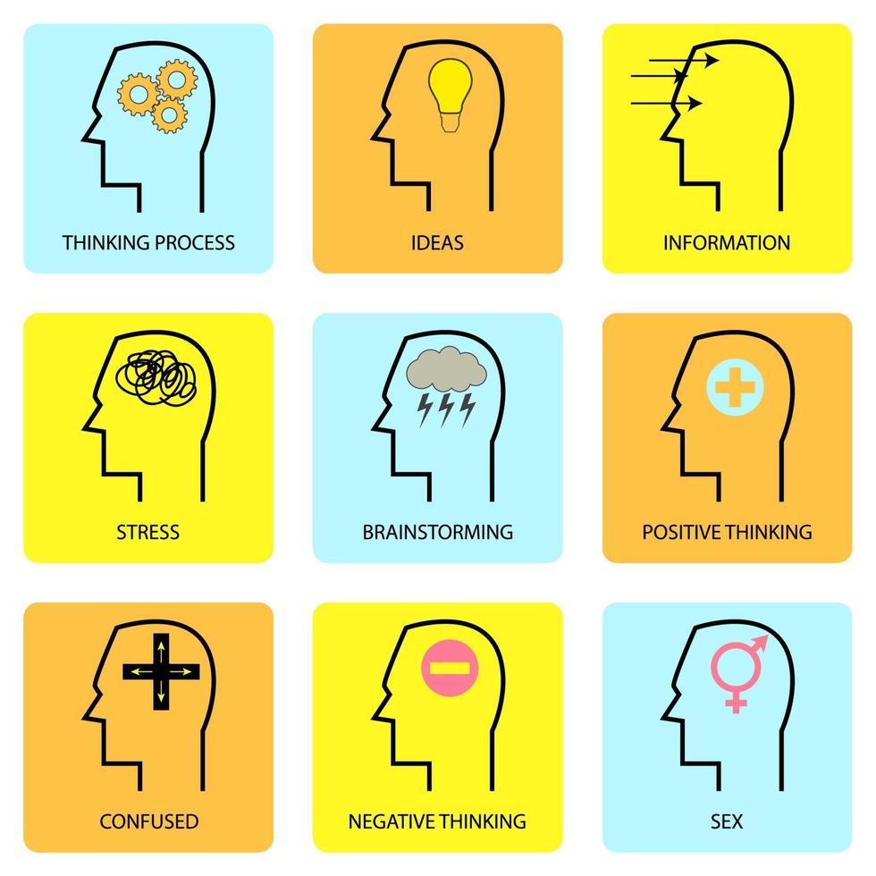 mente e pensamento humano vetor