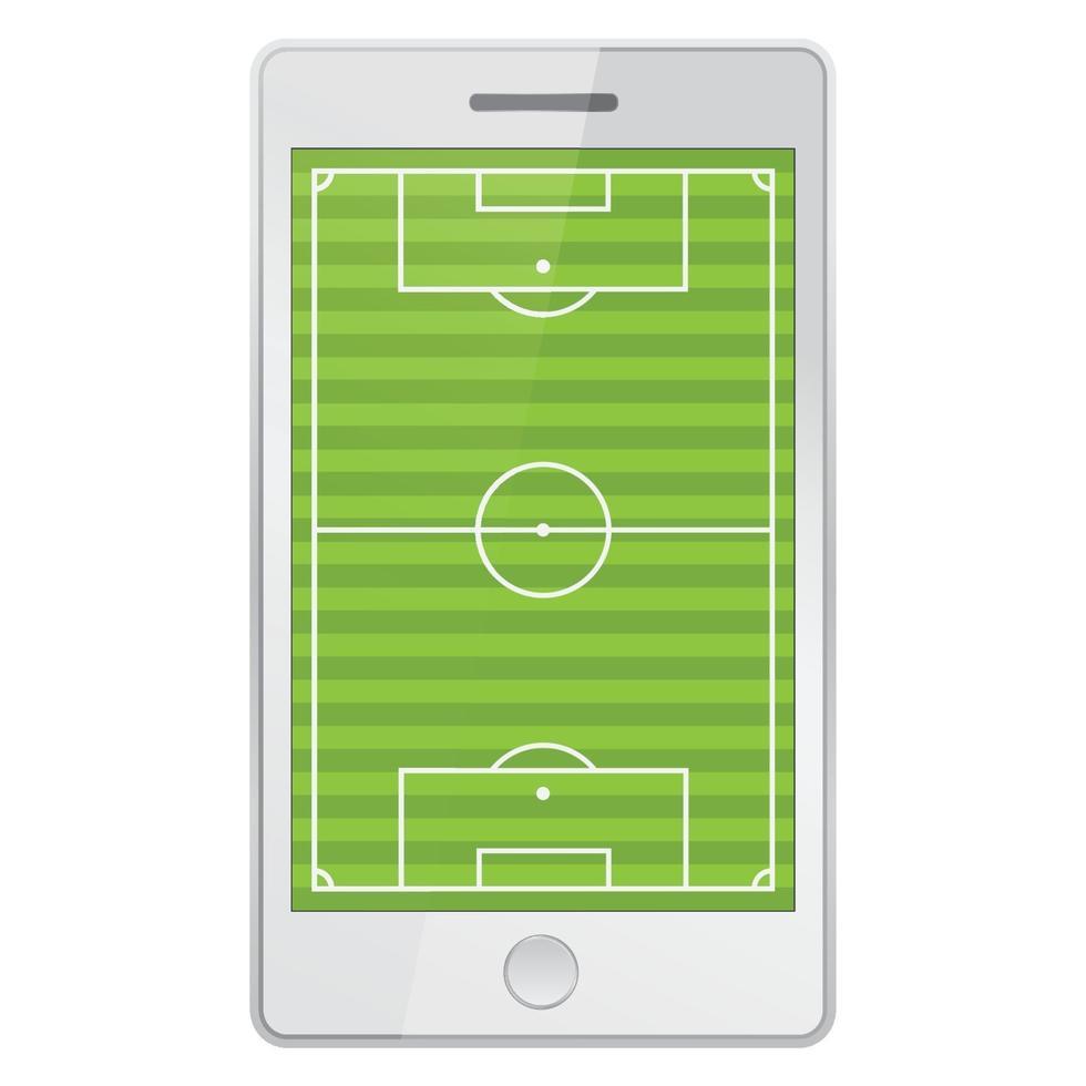 campo de futebol no celular vetor