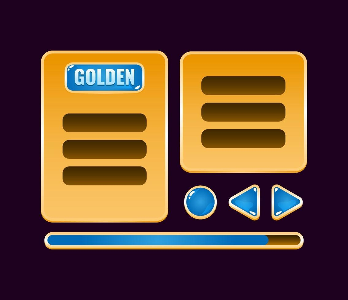 conjunto de placa de interface do usuário do jogo de geléia dourada aparece para ilustração vetorial de elementos de ativos de gui vetor