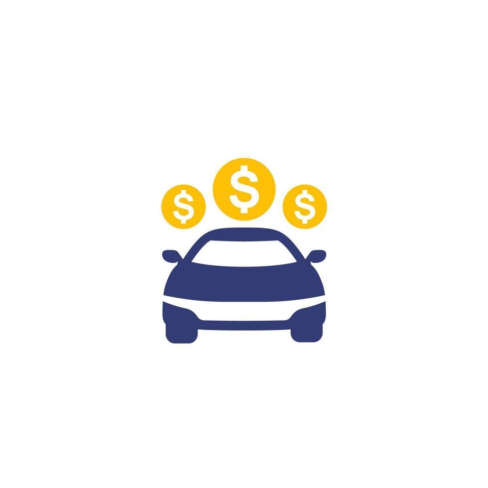 ícone de pagamentos de carro em white.eps vetor