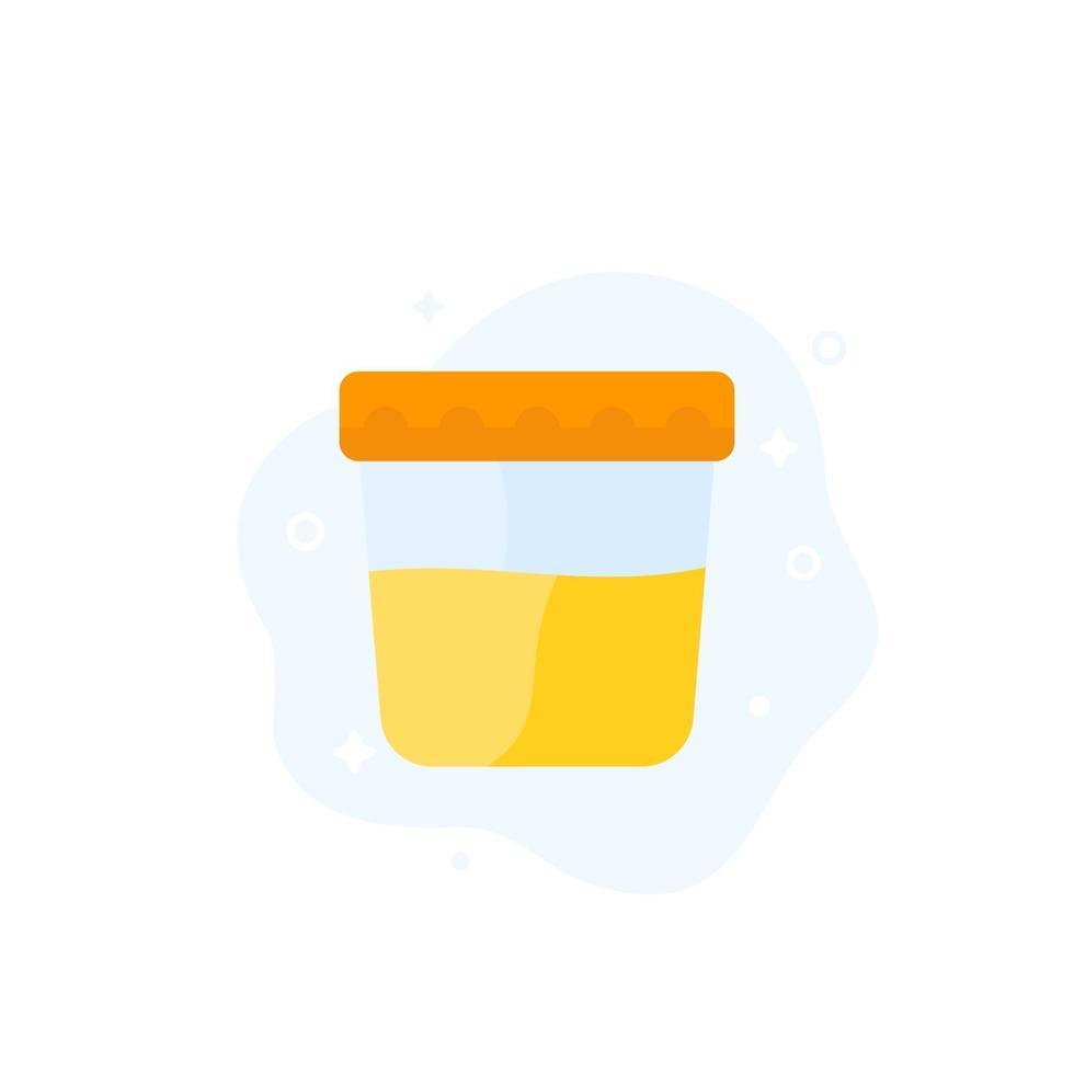 ícone de teste de urina, vector.eps plano vetor