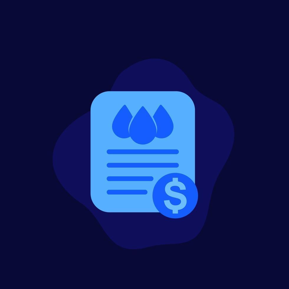 ícone de contas de serviços públicos de água, vector.eps plana vetor