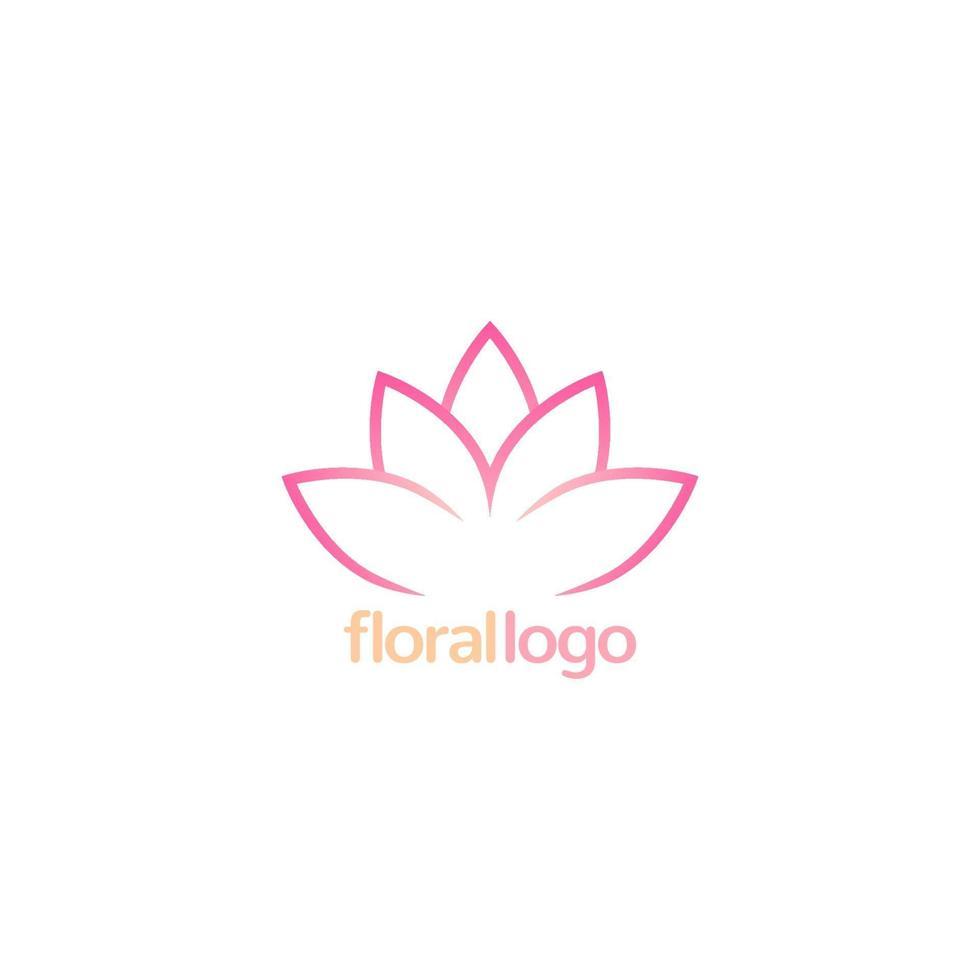 logotipo floral do vetor de lótus design.eps