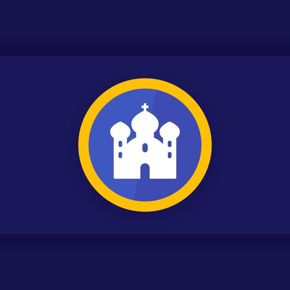 ícone de mesquita, vetor de local de culto