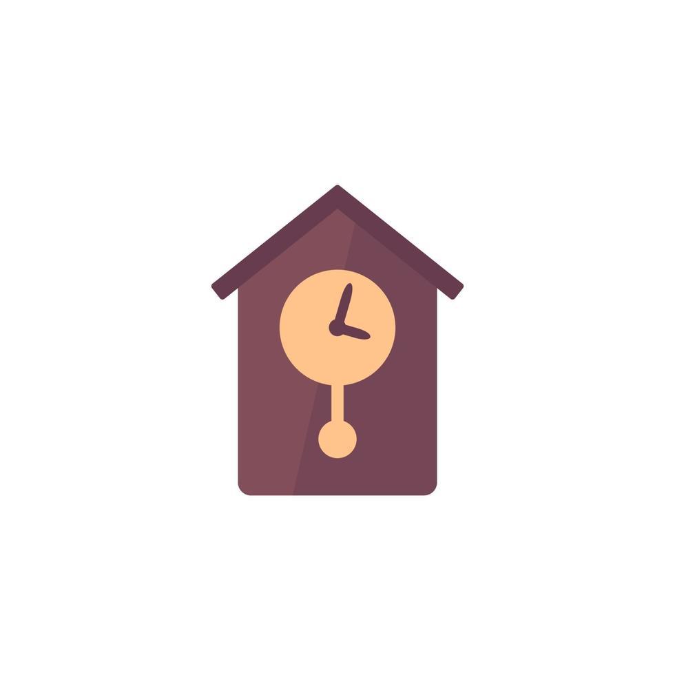 ícone de vetor de relógio de parede retrô, flat design.eps
