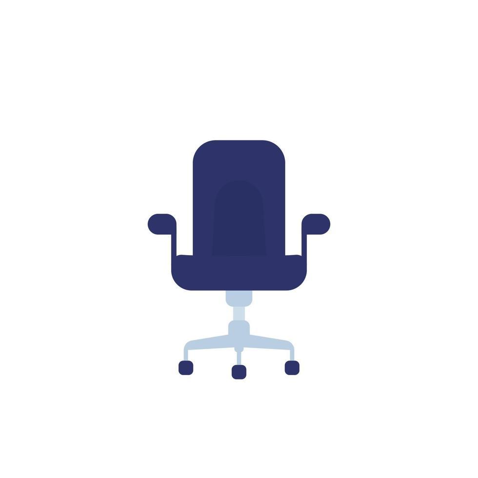 cadeira de escritório ícone plana de vetor isolado em white.eps