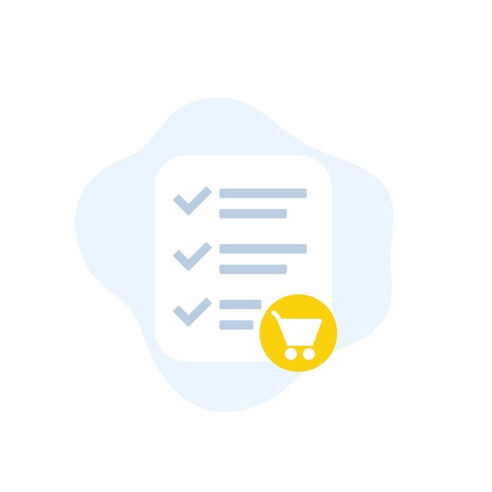 pedido online, ícone de comércio eletrônico, flat design.eps vetor