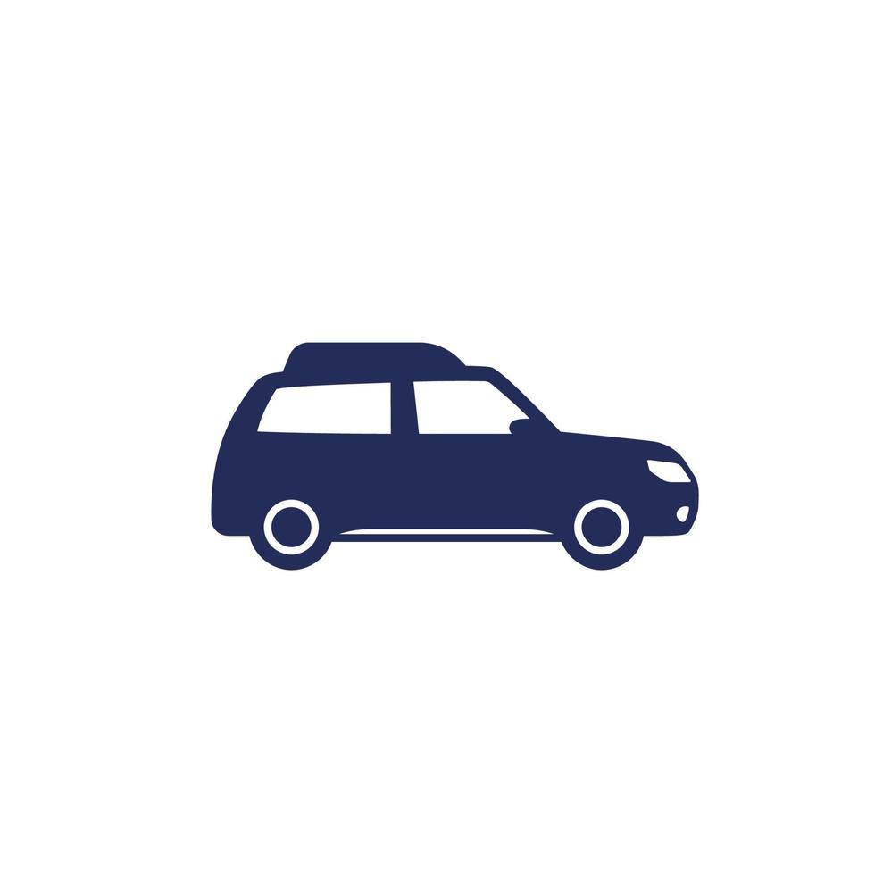 carro universal, ícone do automóvel em white.eps vetor