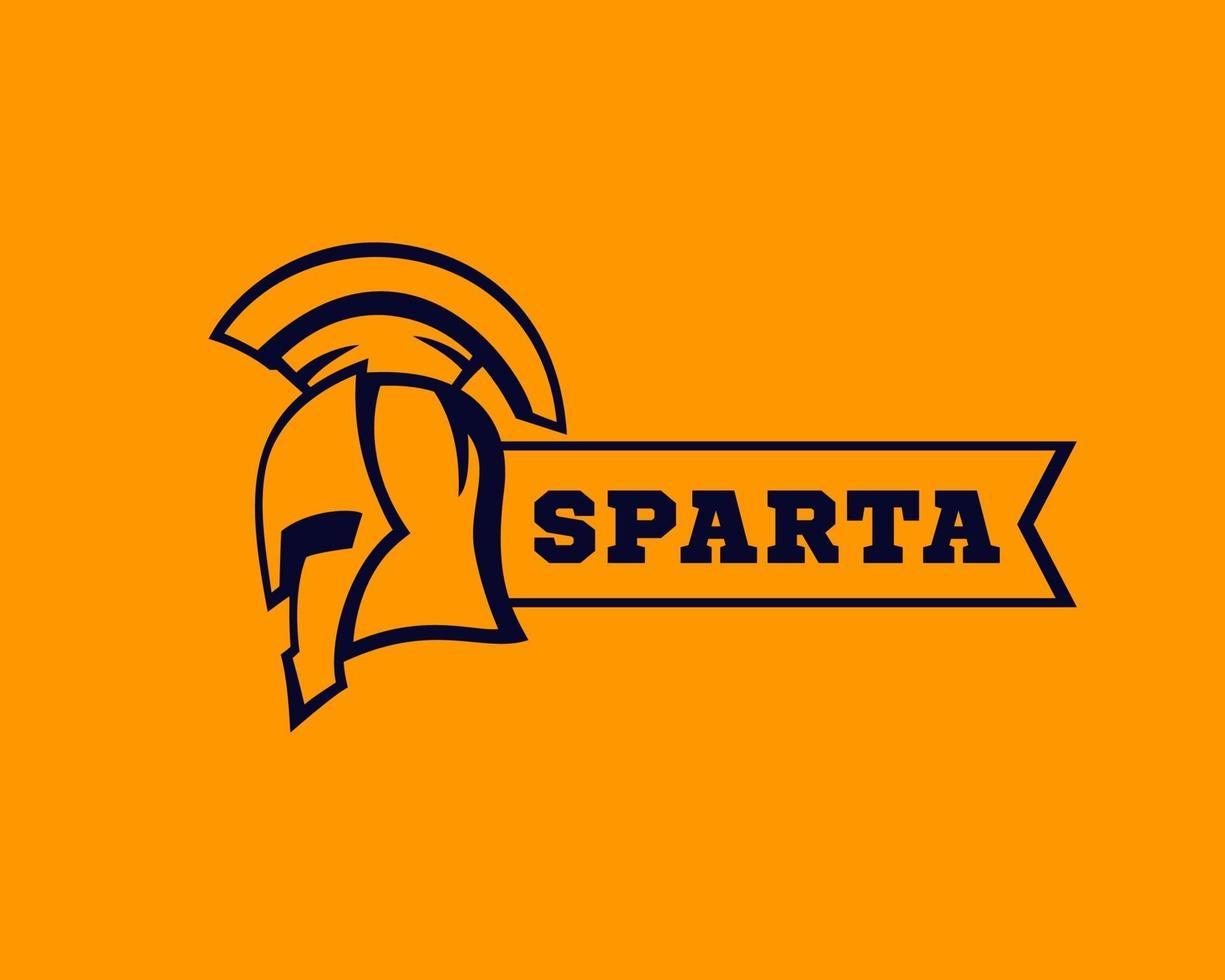 capacete espartano com fita, elementos de logotipo, vector.eps vetor