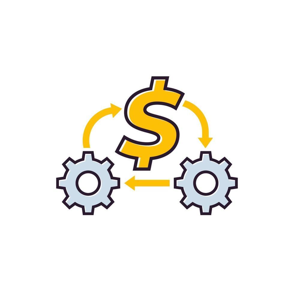 otimização de custos ou redução de despesas, vector icon.eps