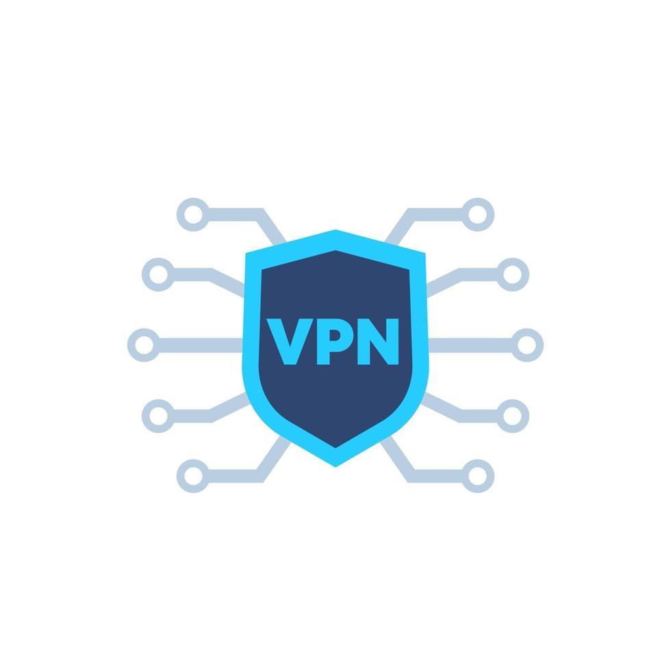 ícone de rede vpn em white.eps vetor