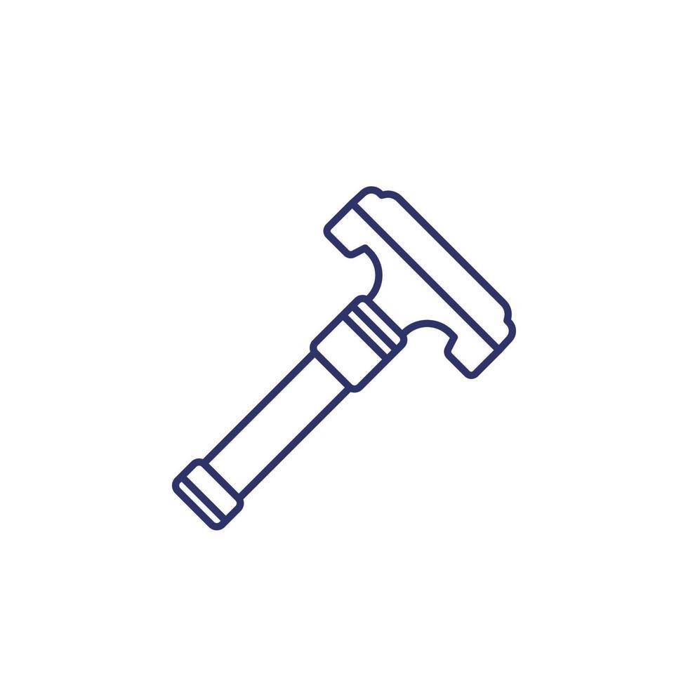 ícone de barbeador de segurança, linha vector.eps vetor