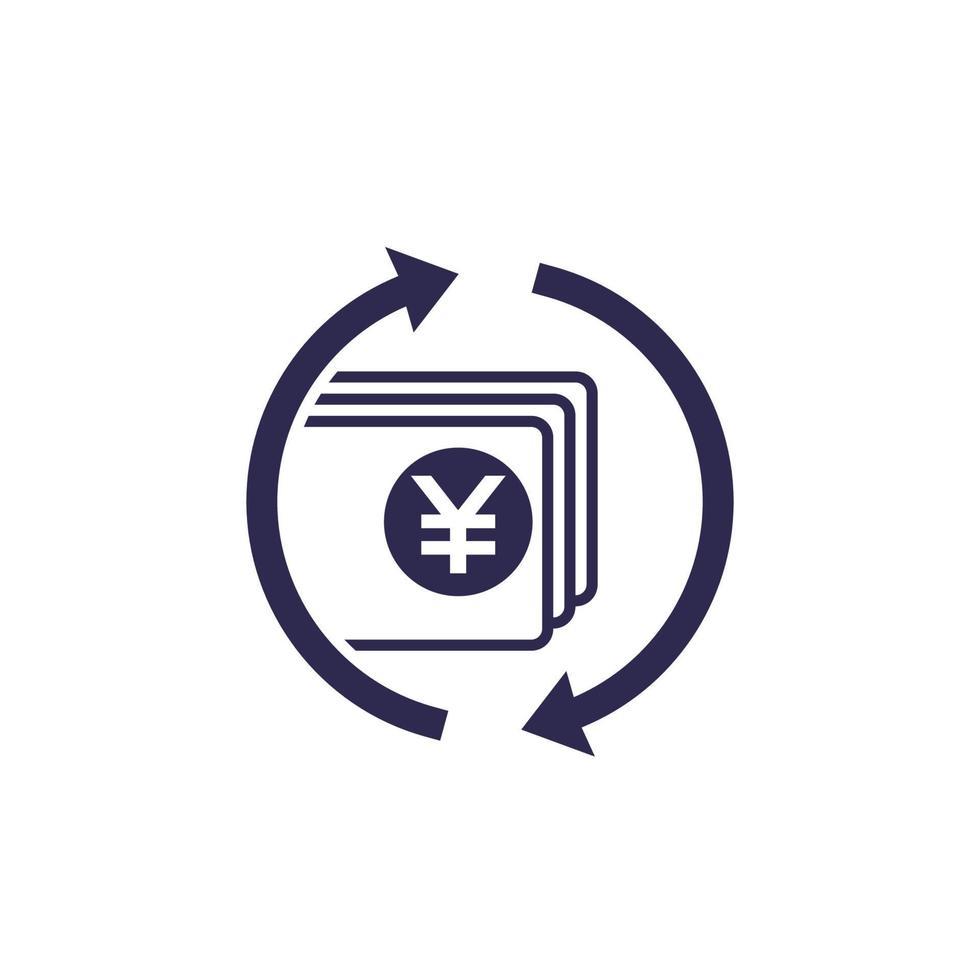 chinês yuan troca de dinheiro icon.eps vetor