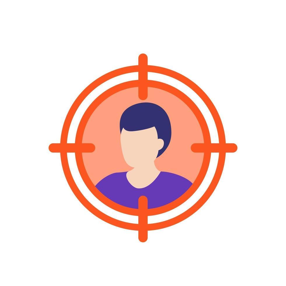 ícone do público-alvo, flat vector.eps vetor