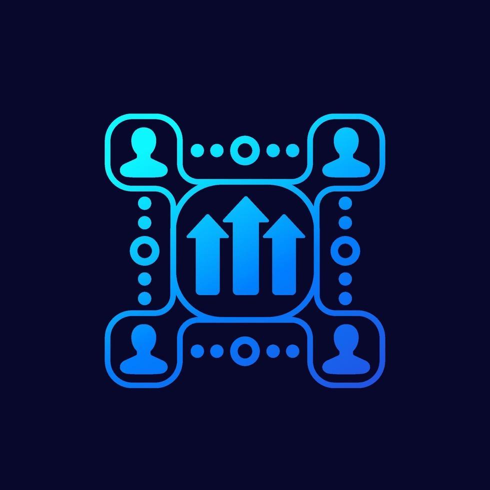 vetor de crescimento e desenvolvimento da equipe icon.eps