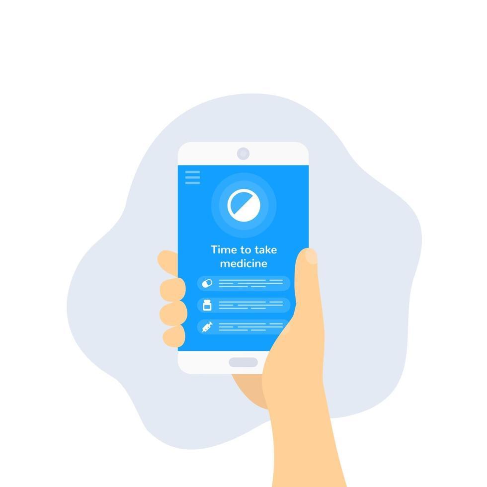 aplicativo de lembrete de pílula, vector design.eps