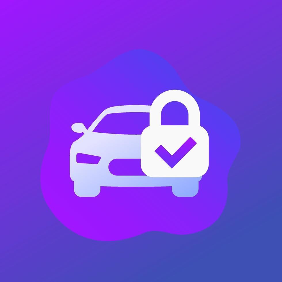 ícone de alarme ou proteção de carro, vector.eps vetor