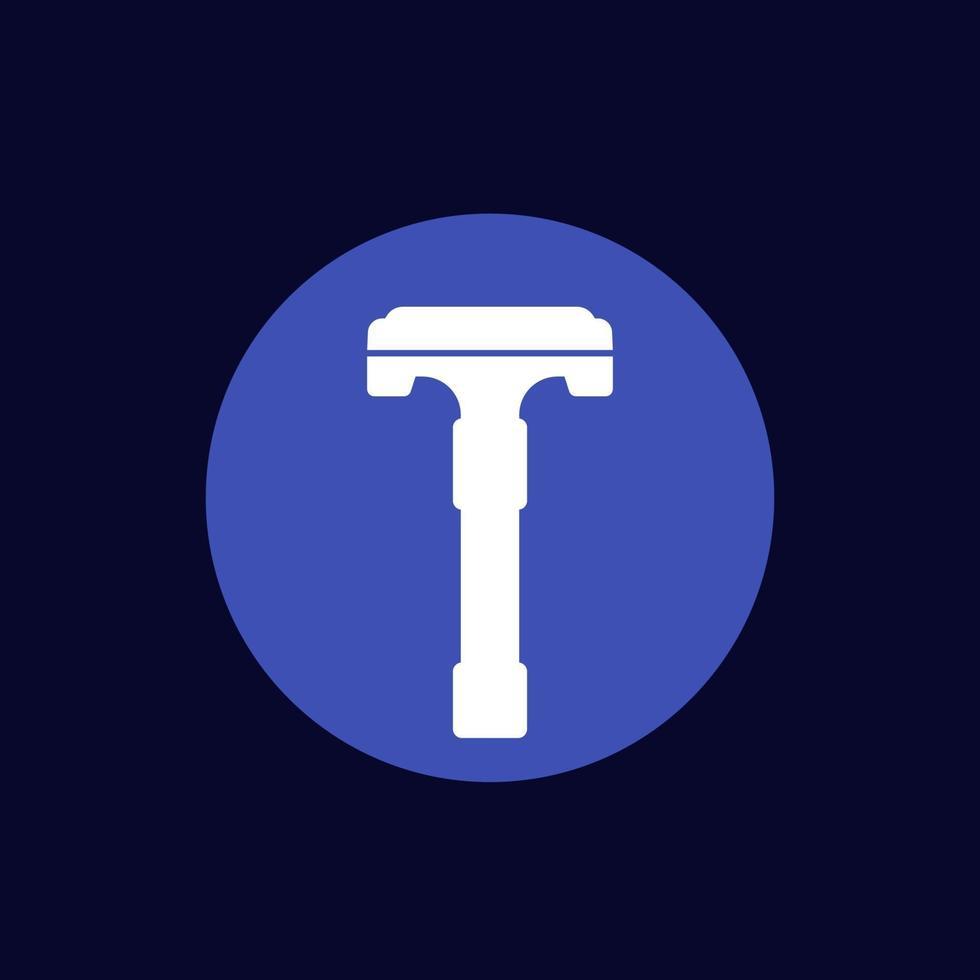 ícone de vetor de lâmina de barbear de segurança.